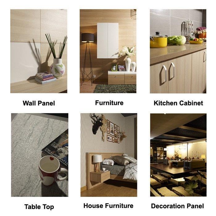 original design imported I.DECOR Decorative Material Brand marble laminate paper