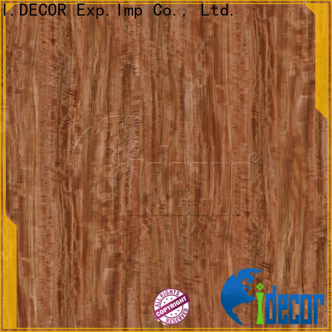 I.DECOR wood color paper from China for guest room