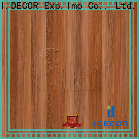 I.DECOR faux wood paper customized for dining room