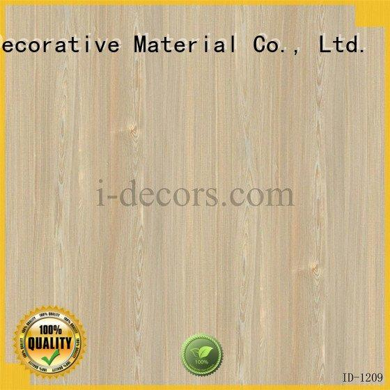 Wholesale walnut id1007 laminate melamine I.DECOR Decorative Material Brand