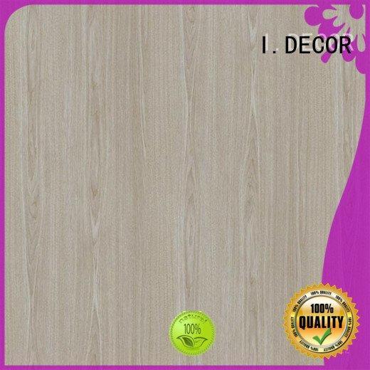 I.DECOR Brand 7ft walnut cherry wall decoration with paper