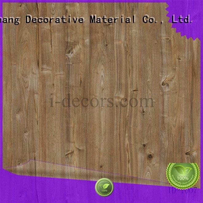 I.DECOR Decorative Material Brand grain walnut id1009 best printer paper id1010