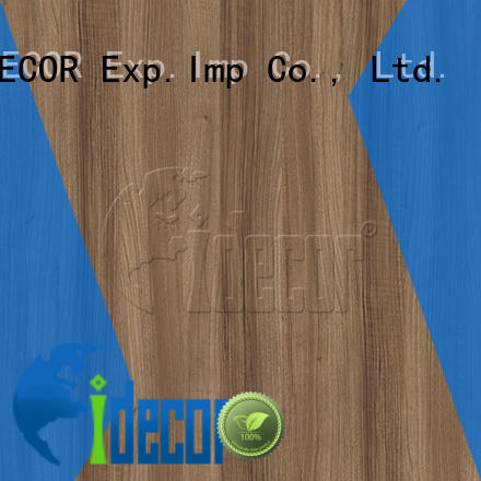 I.DECOR wood grain pattern paper customized for dining room