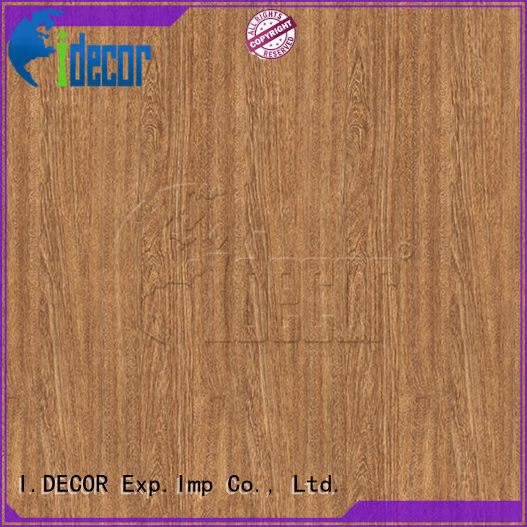 I.DECOR wood texture paper customized for master room