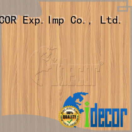 I.DECOR wood grain printer paper customized for dining room