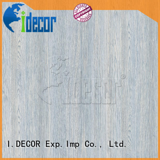I.DECOR fake wood paper customized for guest room