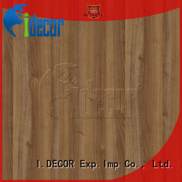 I.DECOR stable wood grain laminate paper customized for dining room