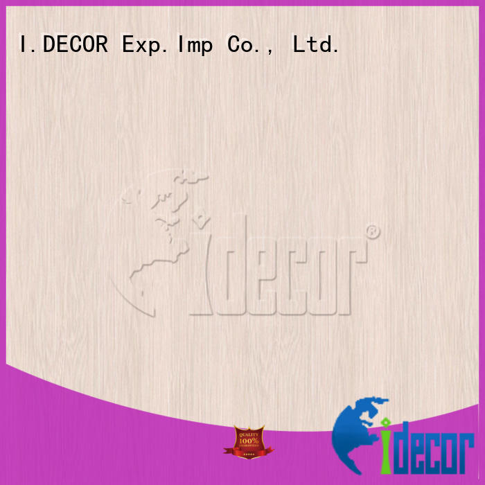 I.DECOR wood design paper customized for guest room