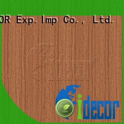 I.DECOR wood grain printer paper customized for master room