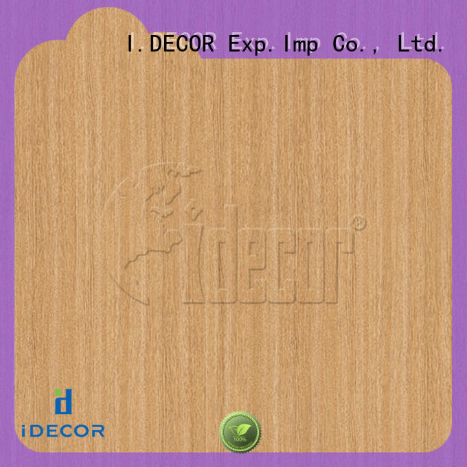 I.DECOR real wood paper customized for dining room