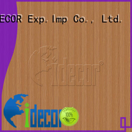 I.DECOR sturdy wood imitation paper customized for guest room