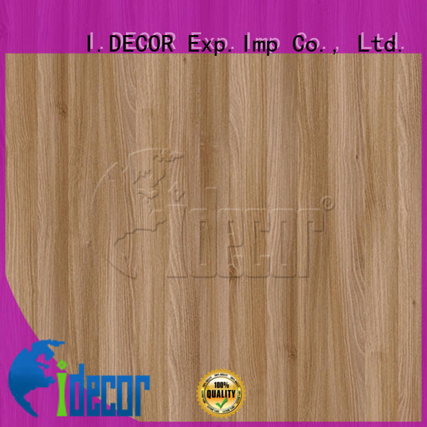 I.DECOR wood grain laminate paper from China for drawing room