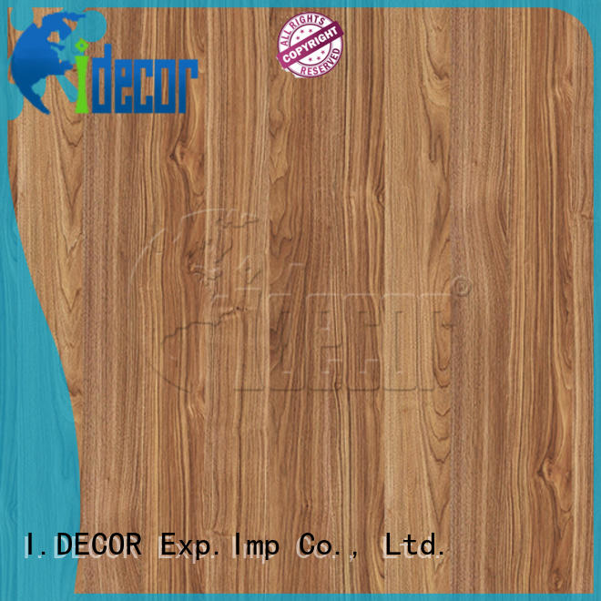 I.DECOR embossed wood grain paper customized for drawing room