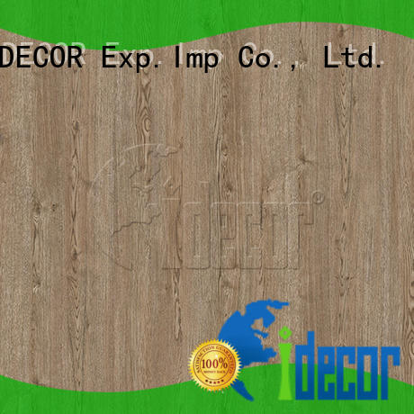 I.DECOR wood effect craft paper customized for guest room
