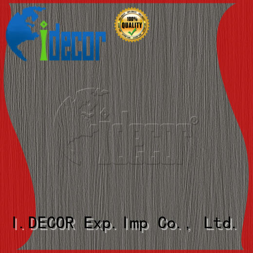 I.DECOR wood look paper from China for guest room