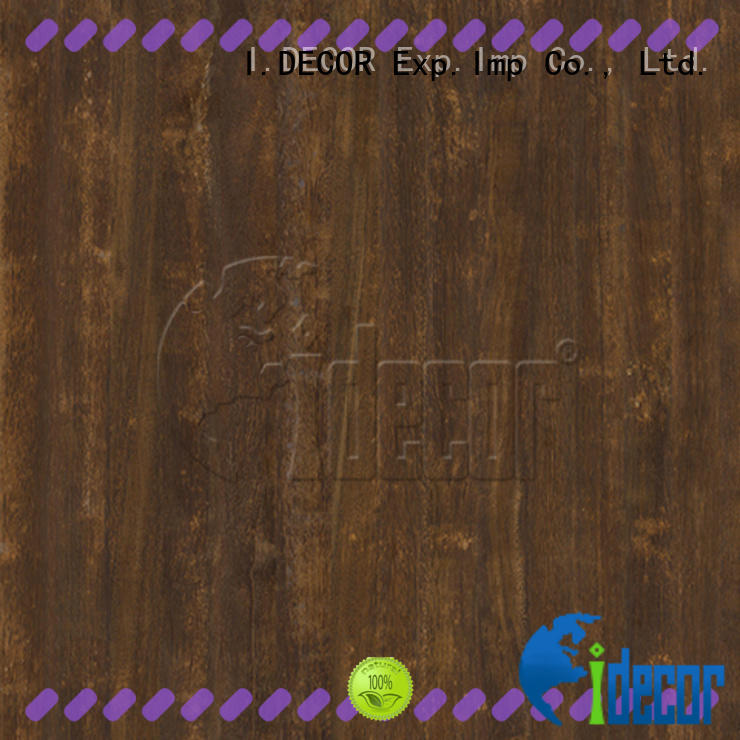 I.DECOR wood grain laminate paper directly sale for guest room