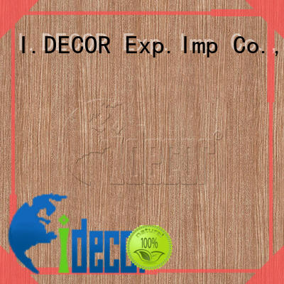 I.DECOR professional wood design paper from China for dining room