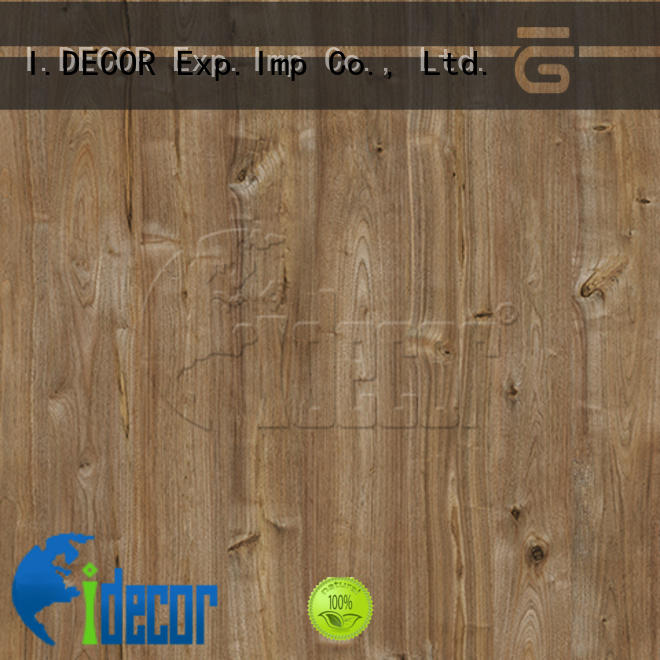 I.DECOR stable embossed wood grain paper from China for study room