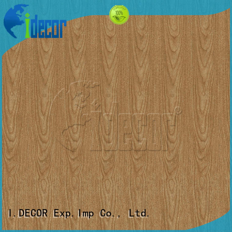 I.DECOR real wood effect on paper directly sale for guest room