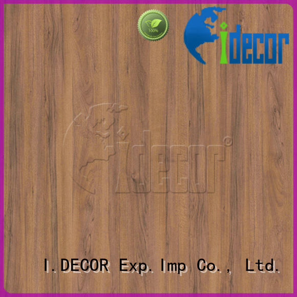 I.DECOR real wood finish paper customized for study room