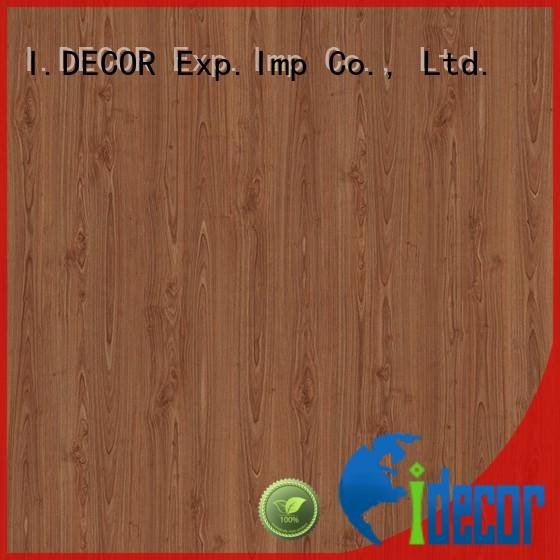 I.DECOR approved walnut decorative paper supplier for school
