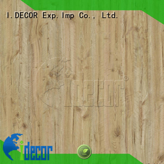I.DECOR wood grain embossed paper from China for study room