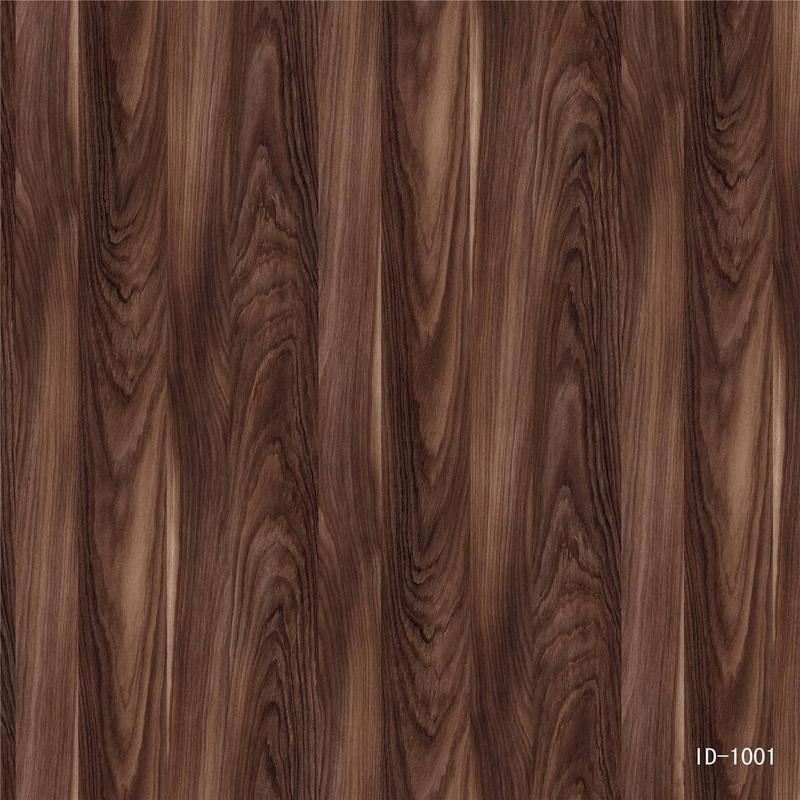 ID1001 idecor hot sale walnut sychronized decor paper